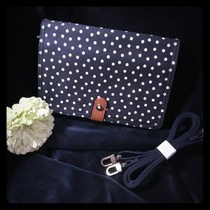 Navy Polka Dot Crossbody